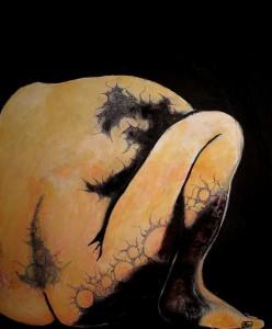 Cauchemar, Acrylique sur toile, 50 x60 cm.
