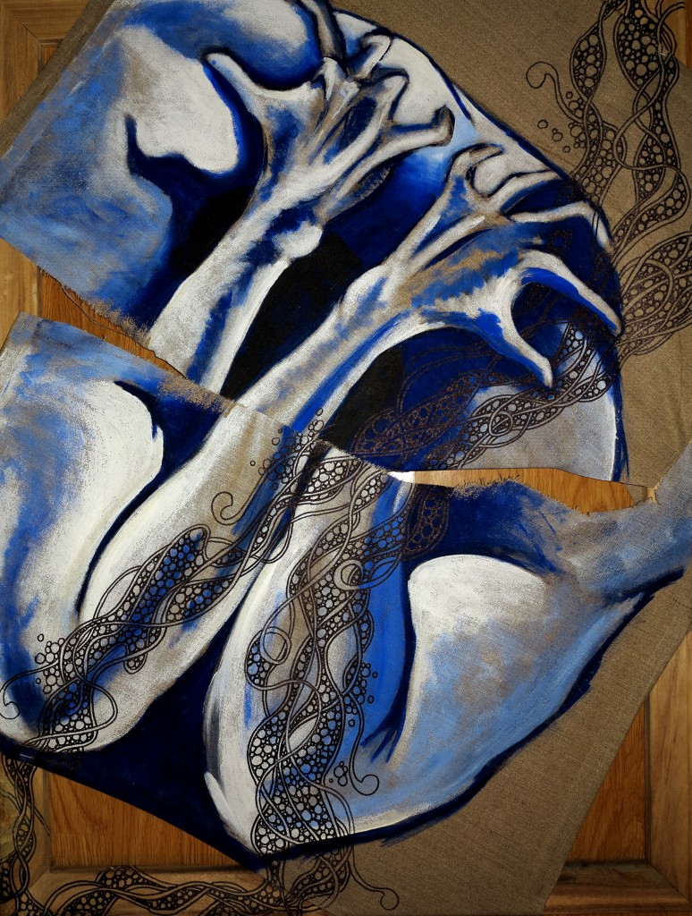 Hystérie, acrylique sur toile, 78 x 90 cm.