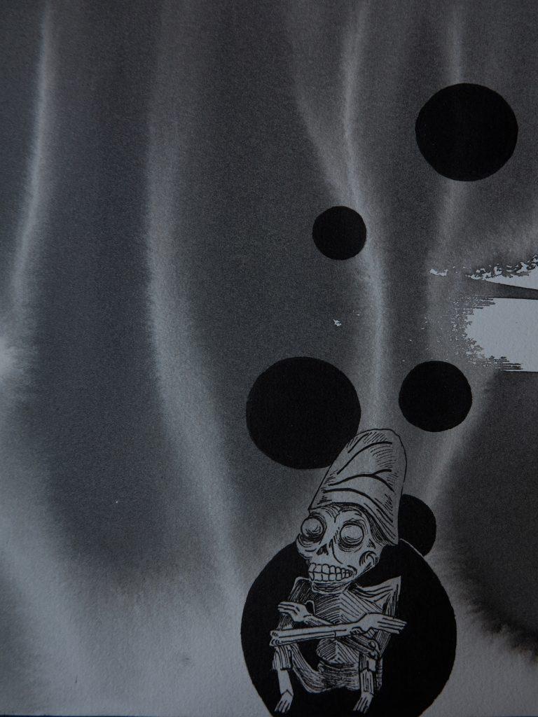 Voodoo, Encre et feutre, 21x25 cm.